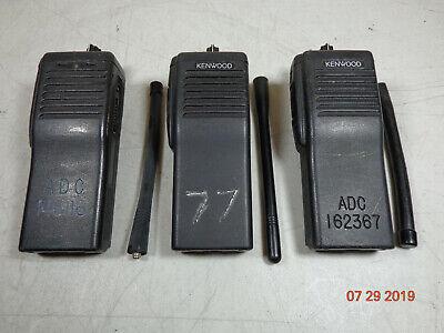 Kenwood Tk290 Tk-290 Vhf 146-174 Mhz Narrow Band Radio With Antennas Lot 3 C17