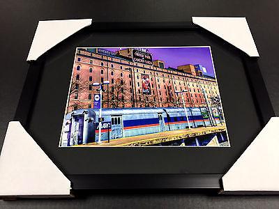 Baltimore Orioles Warehouse Marc Train Camden Yards 8x10 Framed Photo (Warehouse Frames)