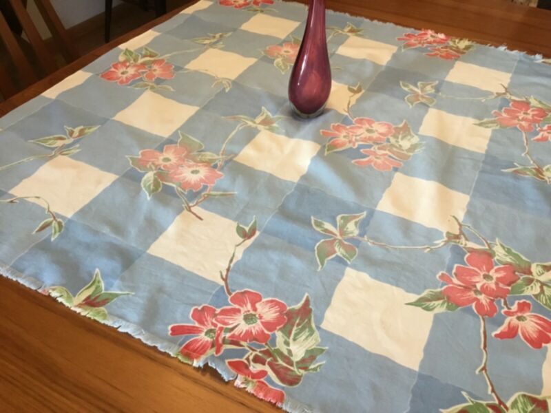 vintage 50s country tablecloth