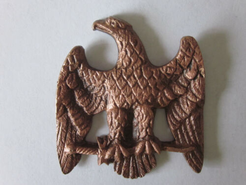 1910 Fraternal Order of EAGLES Brass 3D Eagle on a Branch by AMES SWORD Co.