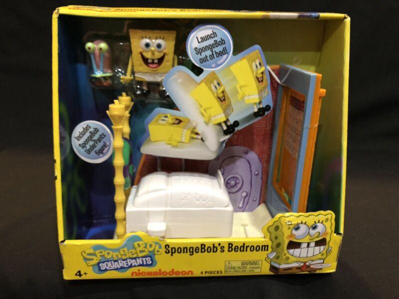 Rare! Jakks Pacific - Nickelodeon -  SpongeBob's Ejection Bedroom Set Toy