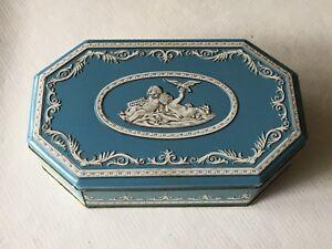 Vintage Wedgwood style cookie tin