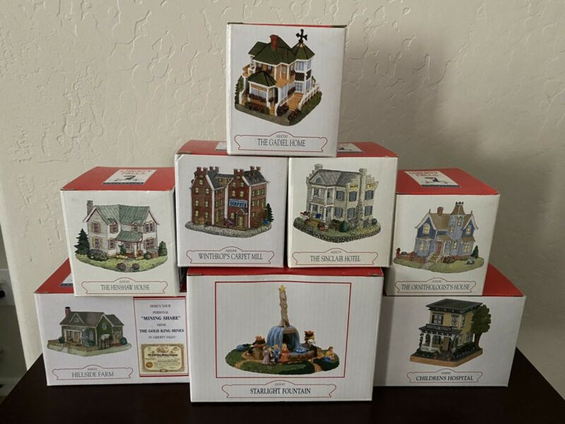Lot Of 8 Liberty Falls Collection w/ Original Boxes