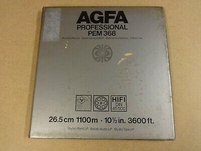 """10"""" (26,50 CM) REEL TAPE AGFA PROFESSIONAL PEM 368 IN ORIGINAL BOX"""