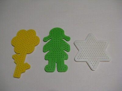 3 Medium Pegboards COLOR For Perler Fuse Beads. Iron. Melt.Template Design. Hama ()