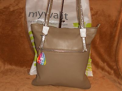Mywalit At liberty Shopper Handbag Mushroom Chocolate Leather NWT MSRP 338.00 REDUCED