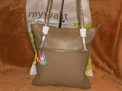 Mywalit Broad Shopper Handbag Mushroom Chocolate Leather NWT MSRP 338.00 REDUCED