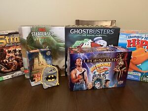Board Games!  Ghostbusters, Batman, D&D, Big Trouble