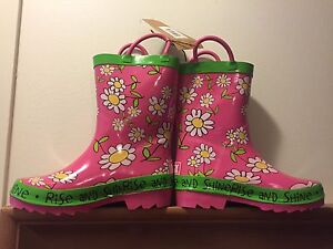 Lazy one size 12 girls rain boots.  New w tags