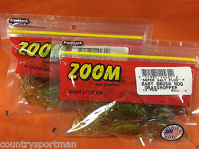 ZOOM Baby Brush Hog (12cnt) #042-155 Grasshopper (2 PCKS) for sale  Shipping to India