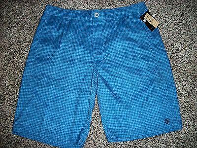 ELEMENT New NWT Mens Board Swim Shorts Boardshorts Blue Black Plaid 34 36 ()