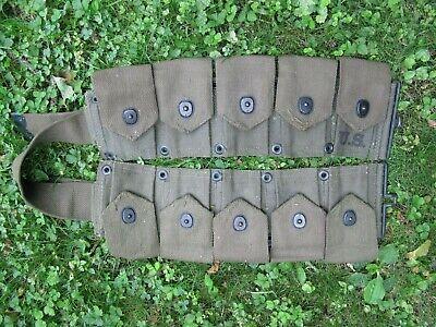 U.S. WWII Korea 1951 army M1923 M1 Garand M1903 30-06 ammo pouches original belt