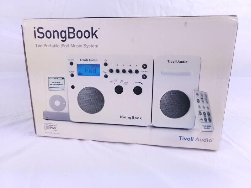 Tivoli Audio isongbook AM/FM Alarm Clock Travel Radio Extension Speaker Songbook