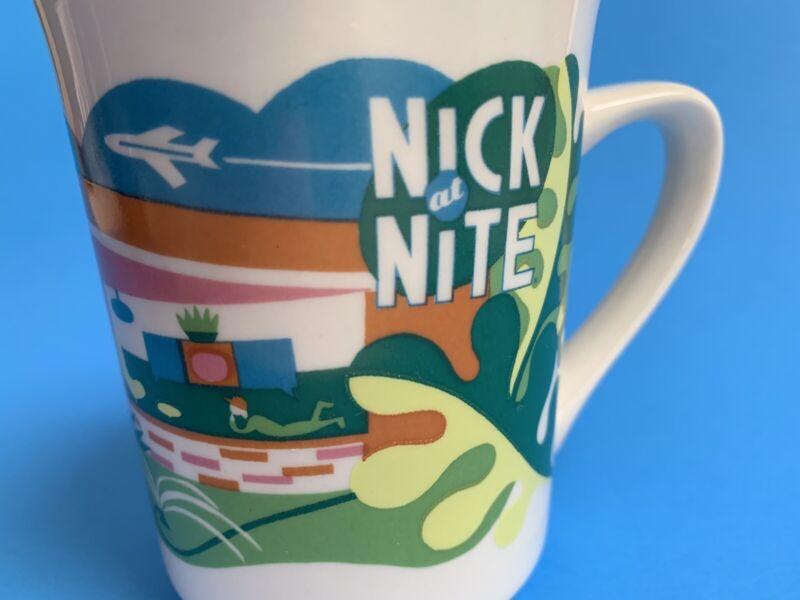 Nick at Nite Mid Century House Atomic Graphic Ceramic Coffee Mug Tea Cup 8 oz TV