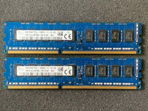 SKHYNIX 16GB KIT 2x 8GB 2Rx8 PC3L-12800E ECC MEMORY DDR3-1600 HMT41GU7BFR8A-PB