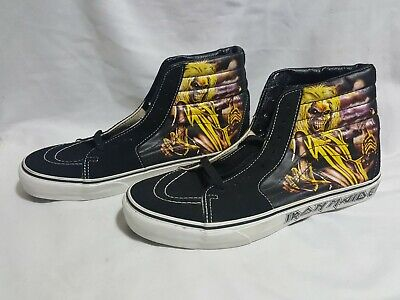 Iron Maiden Killers Hi-Top Sk8-Hi Vans Skate Shoes US Mens Size 8.5 Eddie - READ