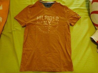 T-Shirt homme Tommy Hilfiger taille S 100% coton jaune