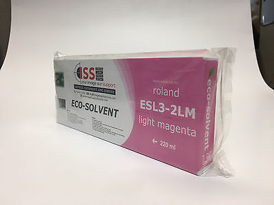 Roland Ink 220ml Esl3-4lm - Lt. Magenta Eco-sol Max Ink Cartridge