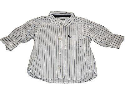 H & M tolles Hemd Gr. 68 weiß-blau gestreift !!