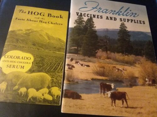 Vintage O.M.Franklin Vetrinary Livestock Catalogs Mid 1940s Lot Of 2 Excellent
