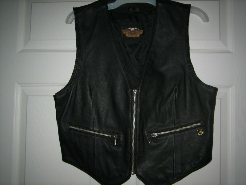 Genuine Harley Davidson Womans Heavy Leather Vest XL