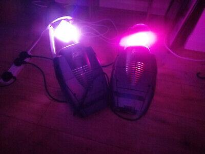 2X Preva Arc LED Disco Lights - Flashing Spinning Lights