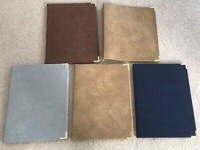Set Of Vintage Ibm Suede Notebooks Plus 3-ring Binder Made By Hazel 1982-83