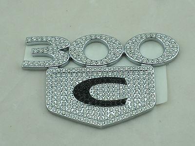 300C crystal emblem iced out emz lettering swarovski 300 NEW OLD STOCK