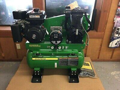 New John Deere Ac2-cg40s-30 Compressorator Compressor Generator Combo 14hp 115v