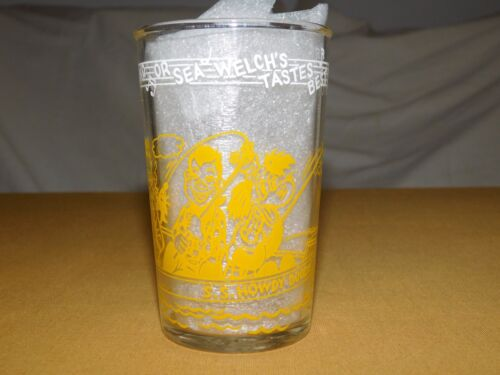 """VINTAGE TV SHOW 4"""" HIGH 1953 S S HOWDY DOODY DRINKING GLASS"""
