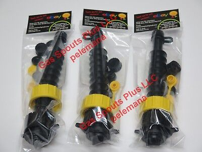 3 Gas Can Spout Kits W Screen Diesel Fuel Gsp Universal Heavy Duty 2 Collars Ea