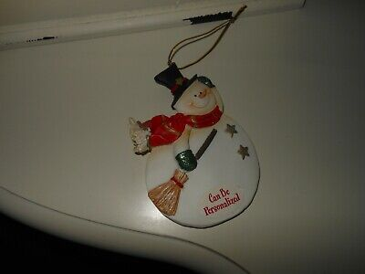 NEW Snowman Christmas Ornament You Can Personalize  ()