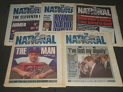 1990 The National Sports Daily Newspaper Lot Of 5   Np 2532