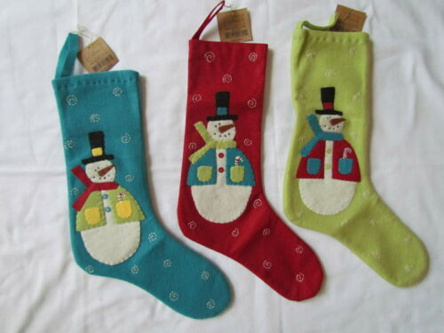 Frosty Snowman Stocking Ornaments 3pc NEW  Collins snowmen primitive style 6238+