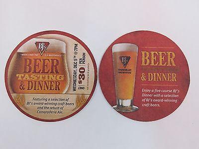 Beer Coaster Bar Mat  Bjs Brewery   Restaurant 5 Course Winter Tasting   Dinner