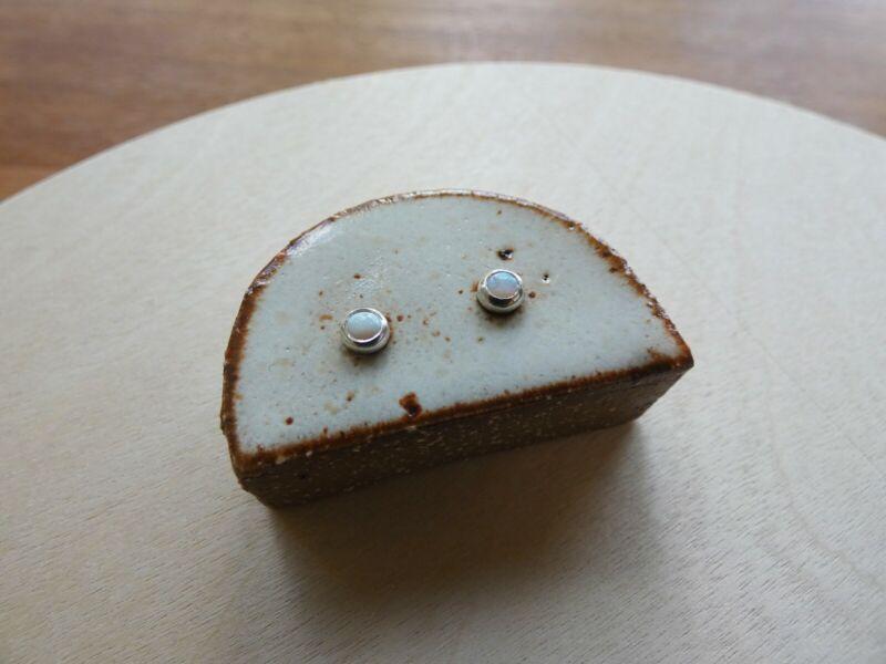 Rho and Jo LA Australian Opal Sterling Silver Stud Earrings RRP$229