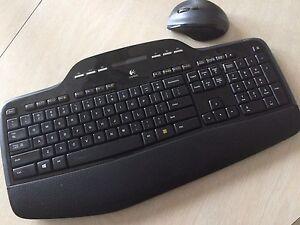 Logitech keyboard and cordless mousepad-$30