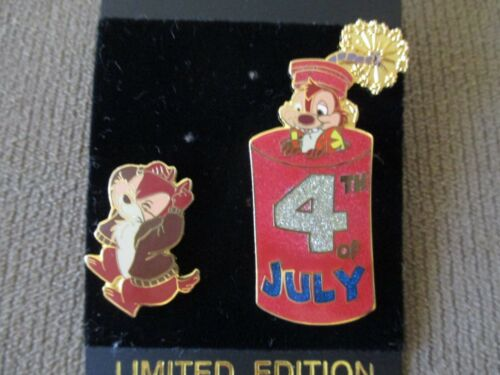 Disney Disneyland 4th of July 2001 Chip & Dale (2 Pin Set) LE 3600 (Pin 5624) #2