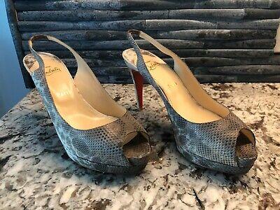 Christian Louboutin Slingback, Peep toe, concealed platform Women shoes Size 11B