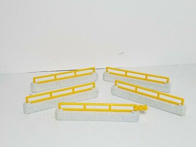 Lot of 5 Playmobil Zoo Animal Low Fences Fencing Yellow
