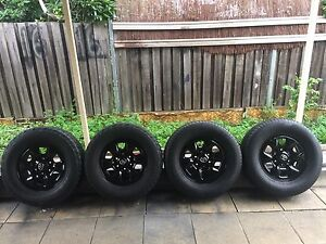 Toyota Hilux black rims and tyres 16 inch 4x4 set of 4 Picnic Point Bankstown Area Preview