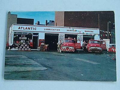 Vintage ATLANTIC GAS STATION Camden NJ TOW TRUCKS Wreckers