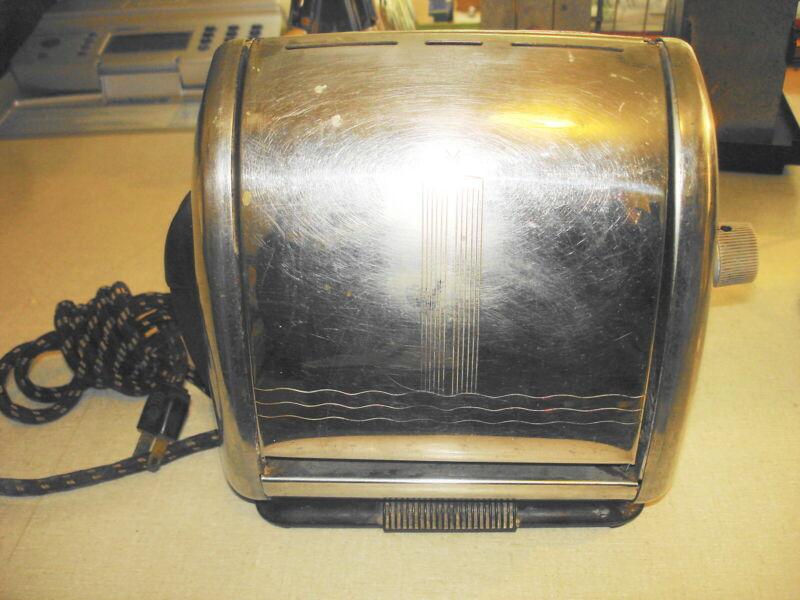 Vintage ELECTRIC TOASTER - UNIVERSAL EA2105 Flip Side Landers Frary Clark w Cord
