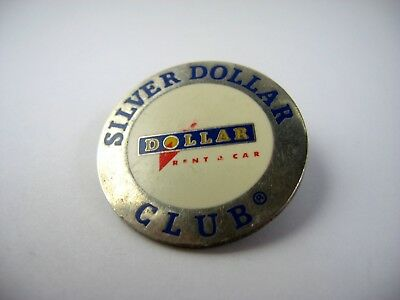Vintage Collectible Pin  Silver Dollar Club Dollar Rent A Car