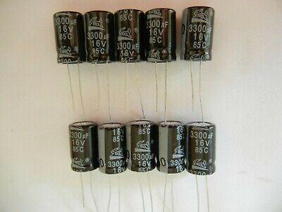 10 Pcs 3300uf 16v 85c Electrolytic Capacitor