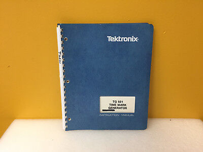 Tektronix 070-1576-02 Tg501 Time Mark Generator Instruction Manual