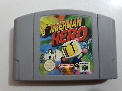 BOMBERMAN HERO PAL EUR Nintendo 64 N64 SOLO CARTUCHO LEER