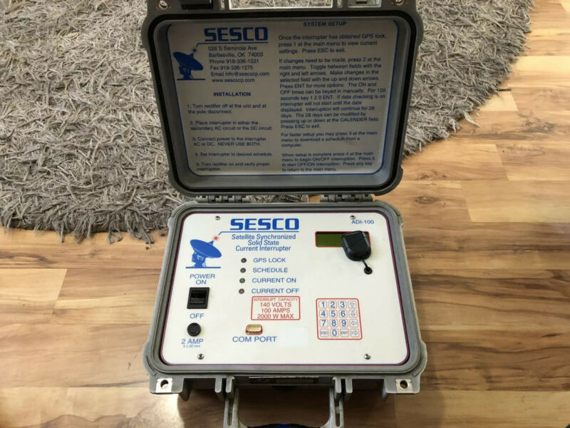 SESCO ADI-100 SATELLITE SYNCHRONIZED SOLID STATE CURRENT INTERRUPTER