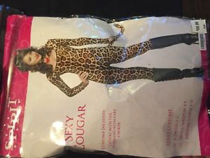 Cheetah costume full body suit size xs