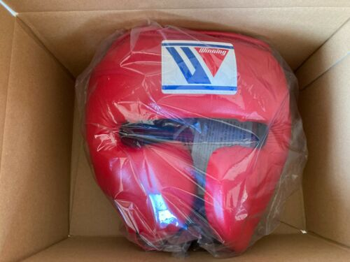 Winning Head Gear FG-2900 Face Guard Type Boxing Red/Black/Blue/White M/L New
